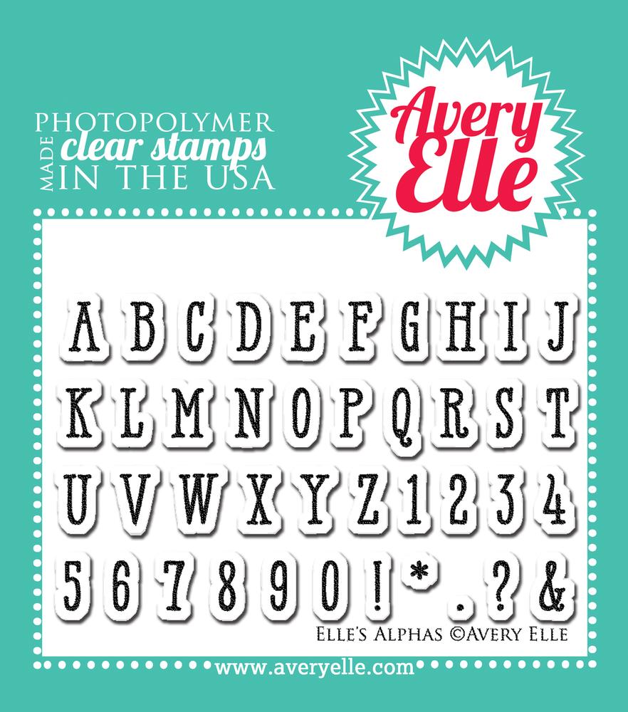 Elle's Alphas Clear Stamps