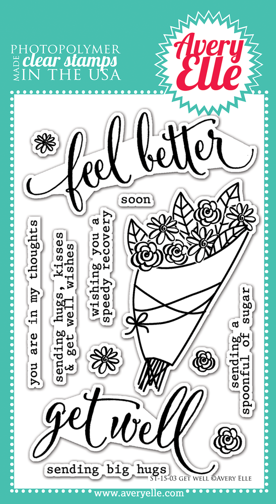 Clear Stamps - Get Well by Avery Elle Inc.