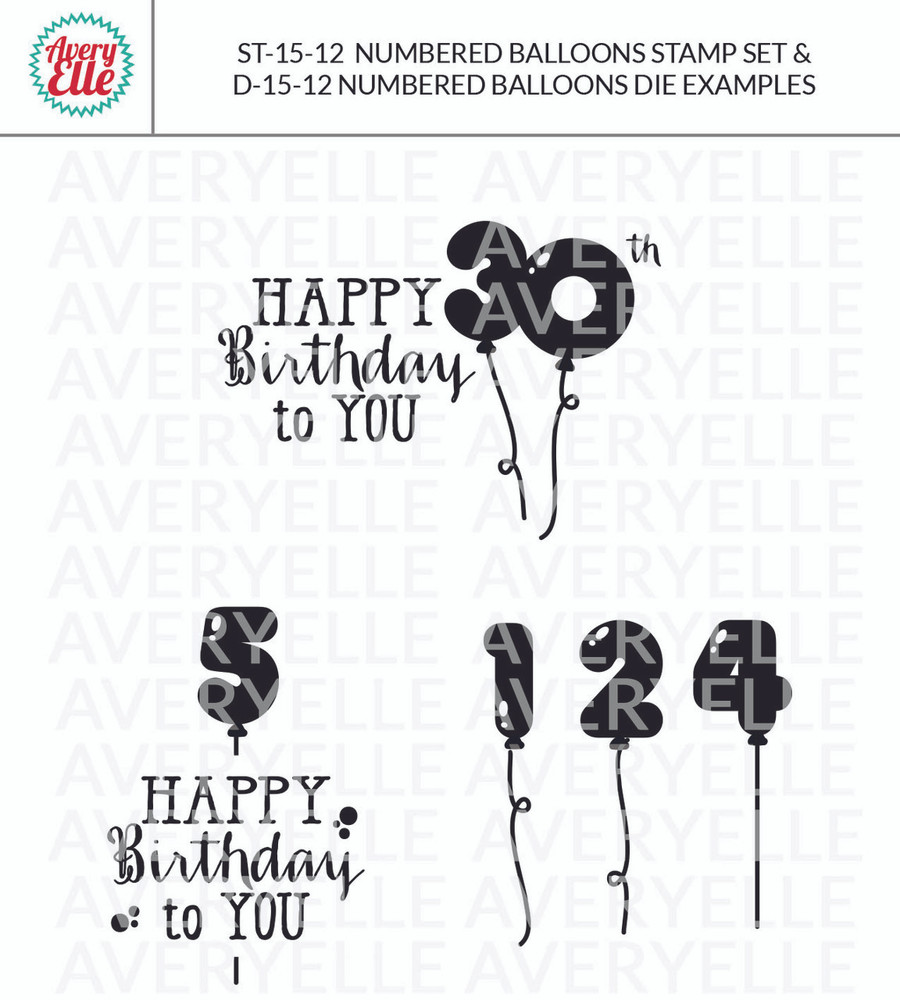 Numbered Balloons by Avery Elle Inc. examples