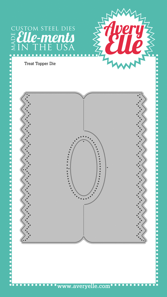 Custom Steel Die - Treat Topper by Avery Elle Inc.