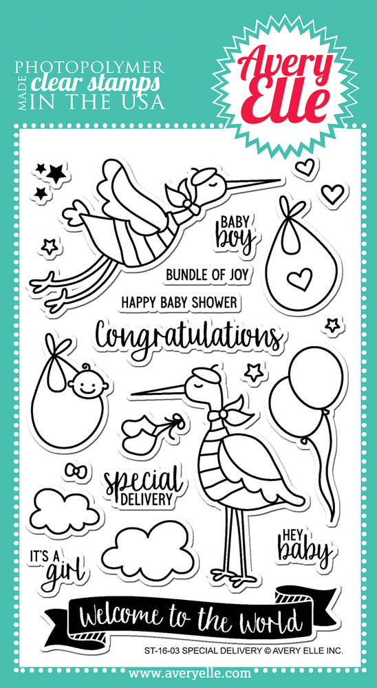 Special Delivery Clear Stamps