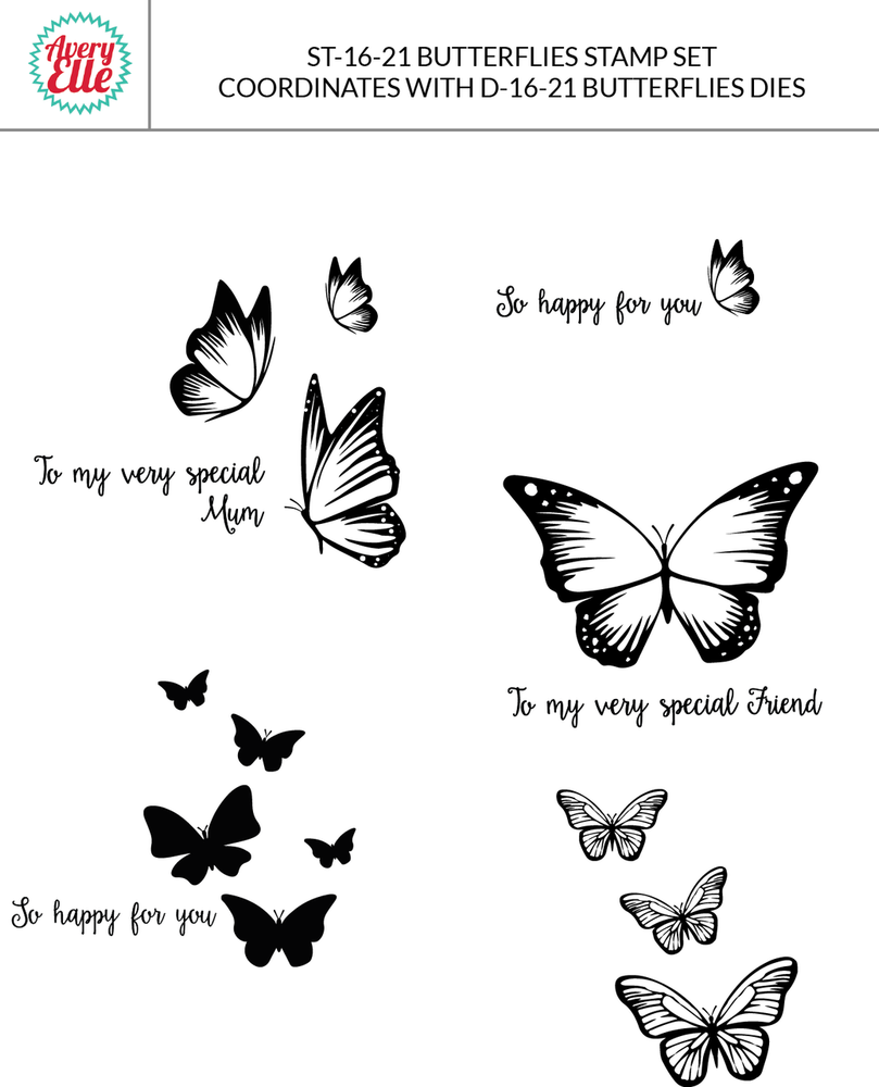 Butterflies Dies and Clear Stamps
