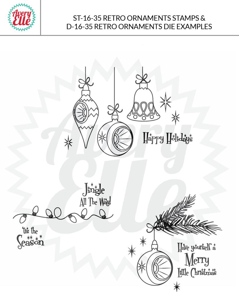 Retro Ornaments Example