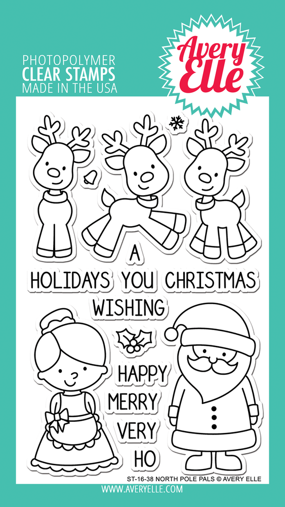 Avery Elle North Pole Pals Clear Stamps
