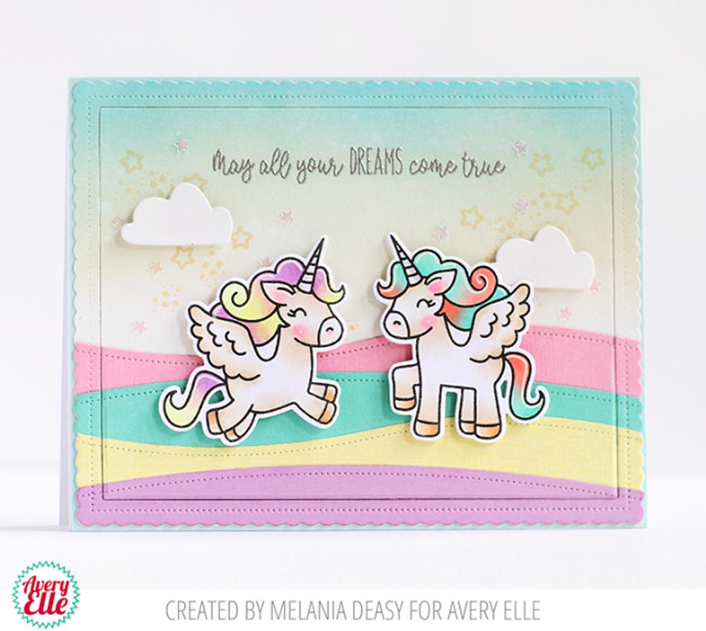 Pegasus Duo Clear Stamps & Dies