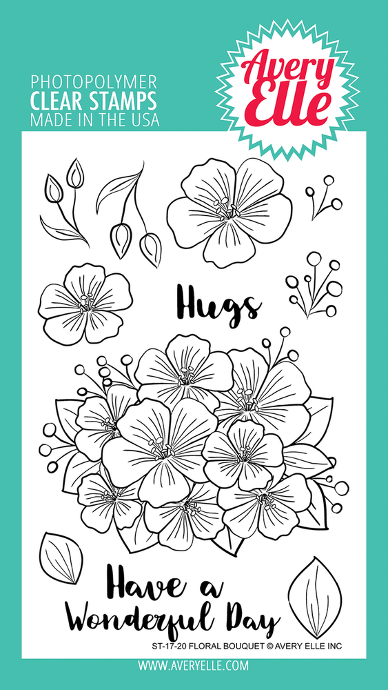 Avery Elle Floral Bouquet Clear Stamps