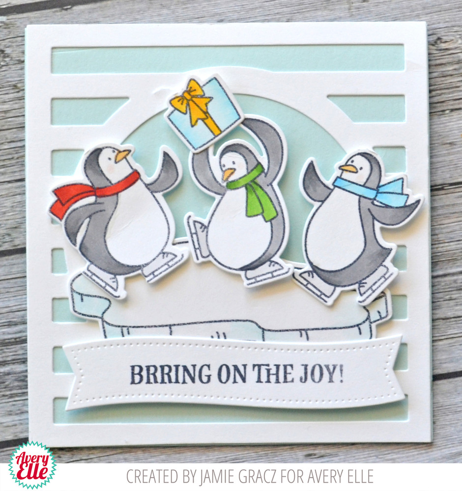Brring On The Joy Clear Stamps & Dies