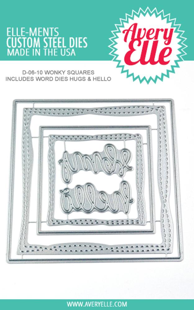 Avery Elle Wonky Squares Dies