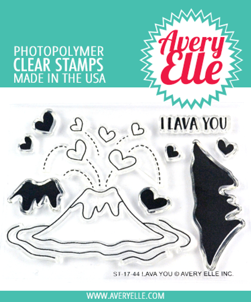 Avery Elle Lava You Clear Stamps