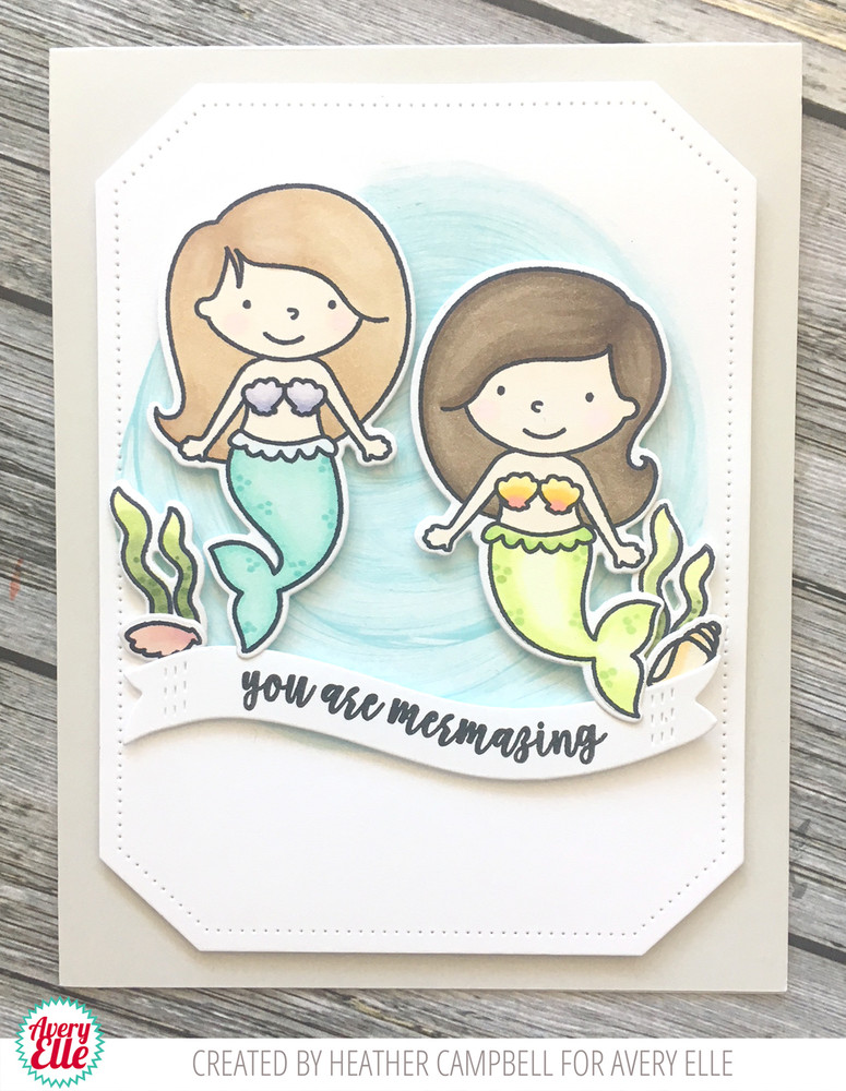 Mermaids Clear Stamps & Dies