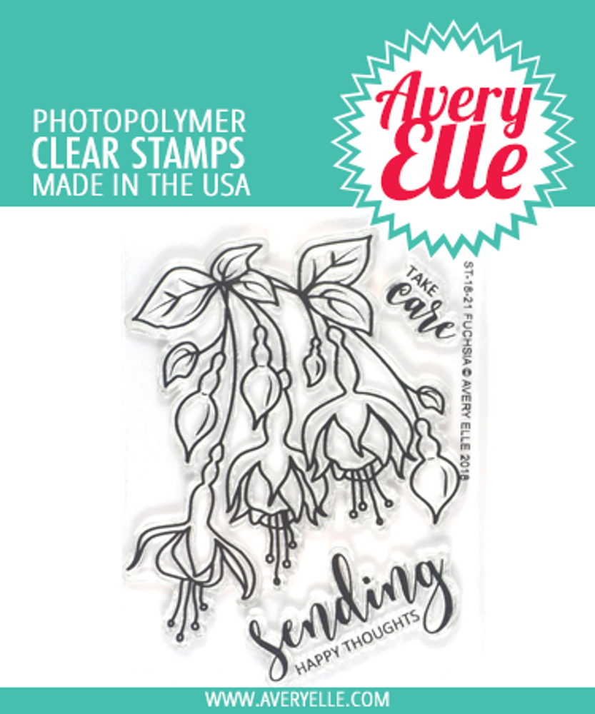 Avery Elle Fuchsia Clear Stamps
