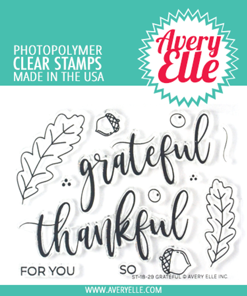Avery Elle Grateful Clear Stamps