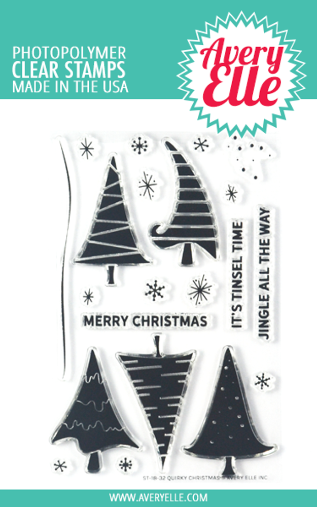 Christmas Stamps.Quirky Christmas Clear Stamps