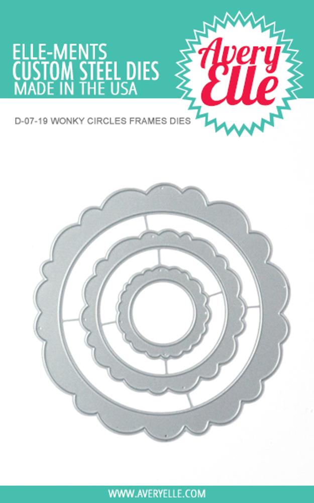 Avery Elle Wonky Circles Frames Dies