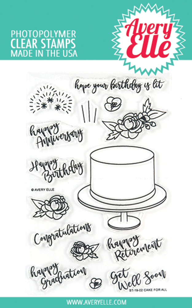 Avery Elle Cake For All Clear Stamps