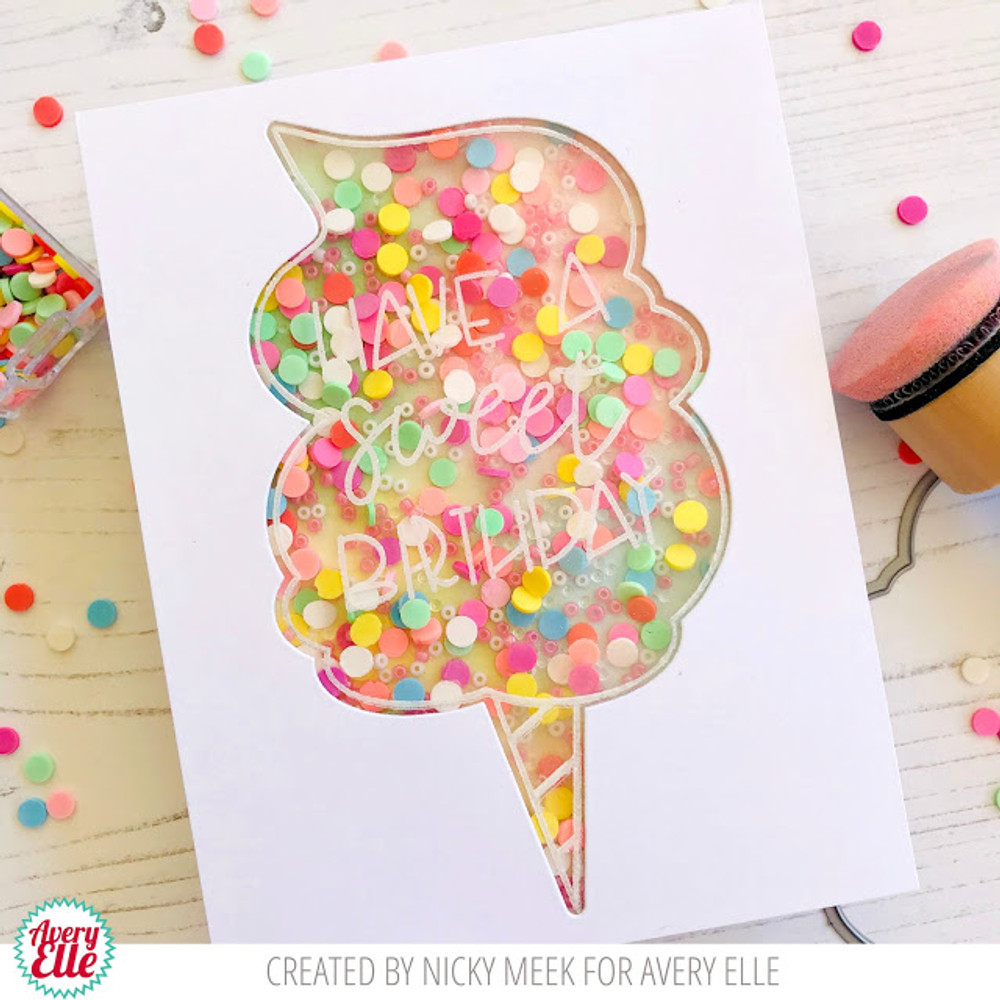 Cotton Candy Clear Stamps & Dies
