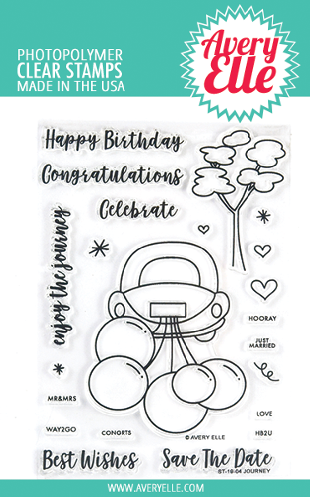 Avery Elle Journey Clear Stamps