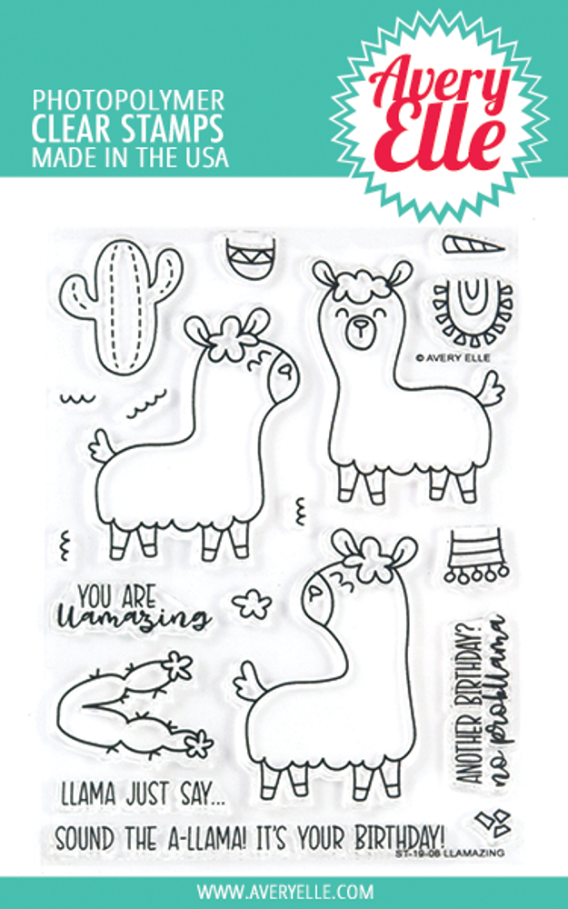 Avery Elle Llamazing Clear Stamps
