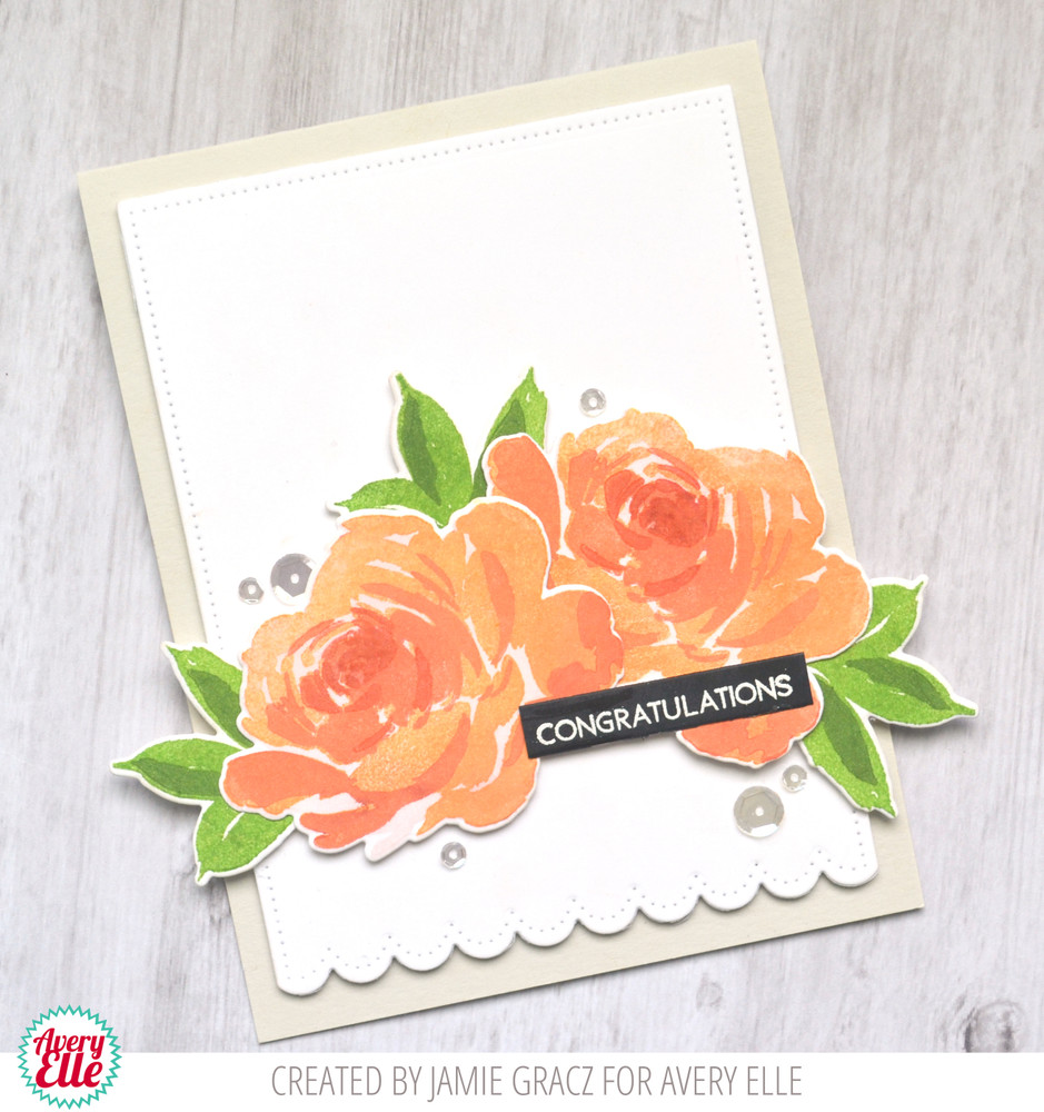 Layered Rose Clear Stamps & Dies