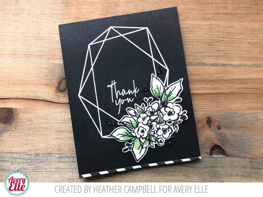 Modern Floral Frame Clear Stamps & Dies