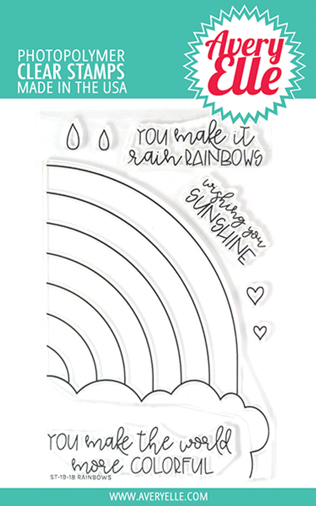 Avery Elle Rainbows Clear Stamps