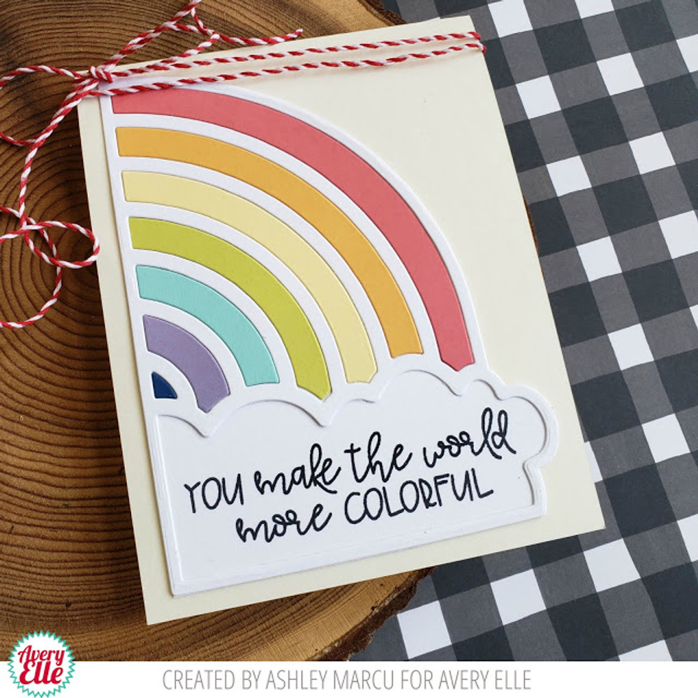Rainbows Clear Stamps & Dies