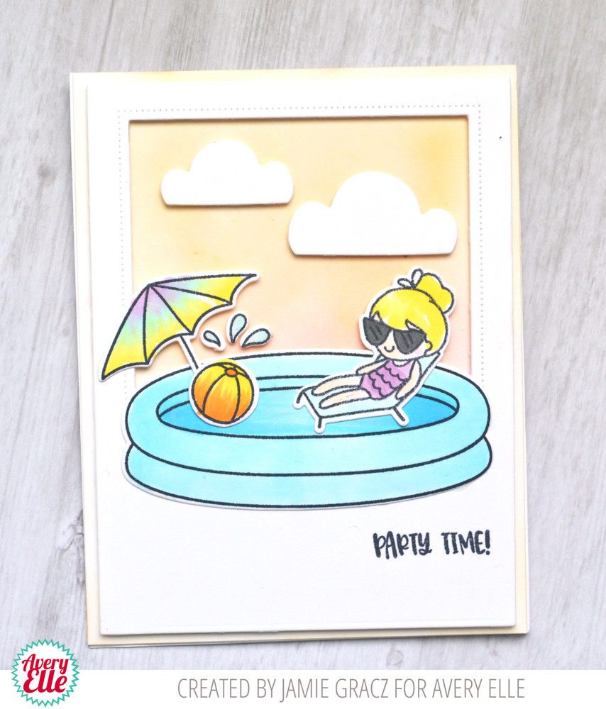 Pool Party Clear Stamps & Dies, Grand Photo Mat Die