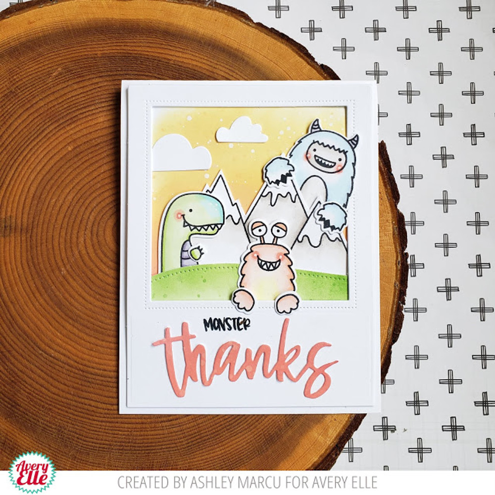 Peek-A-Boo Scary Pals Clear Stamps & Dies