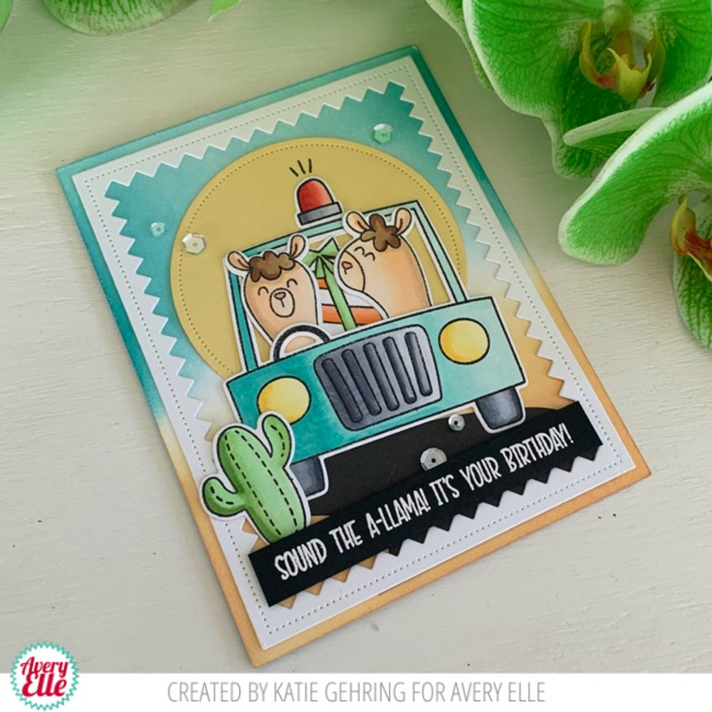 Peek-A-Boo Car Clear Stamps & Dies