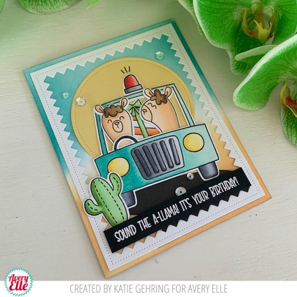 Peek-A-Boo Car Clear Stamps & Dies