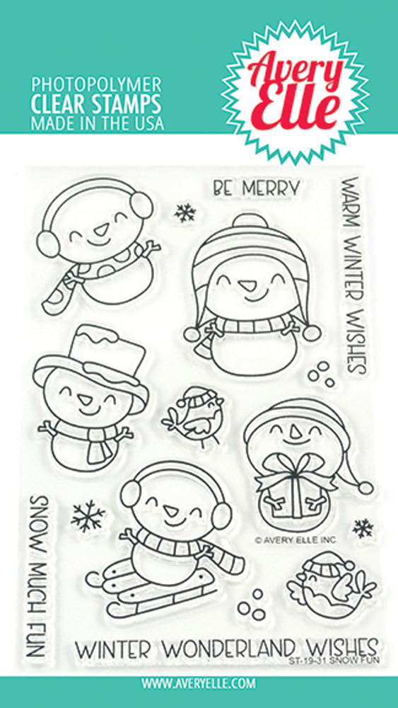 Avery Elle Snow Fun Clear Stamps