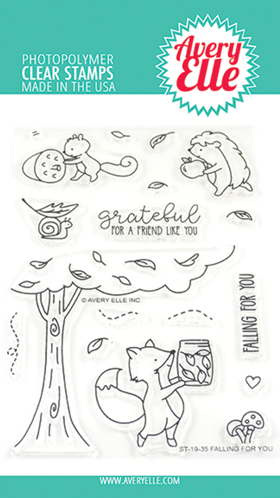 Avery Elle Falling For You Clear Stamps