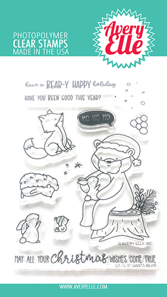 Avery Elle Santa Bear Clear Stamps