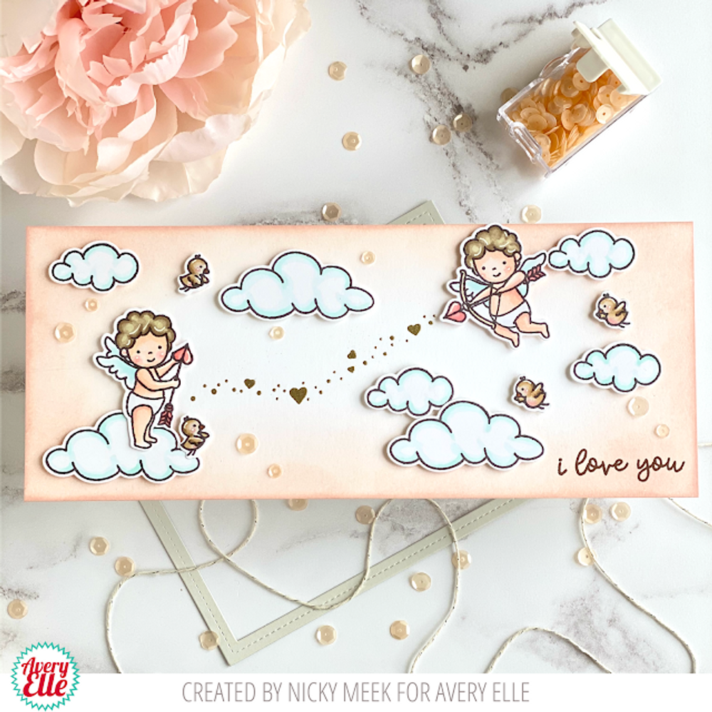 Cupids Clear Stamps & Dies