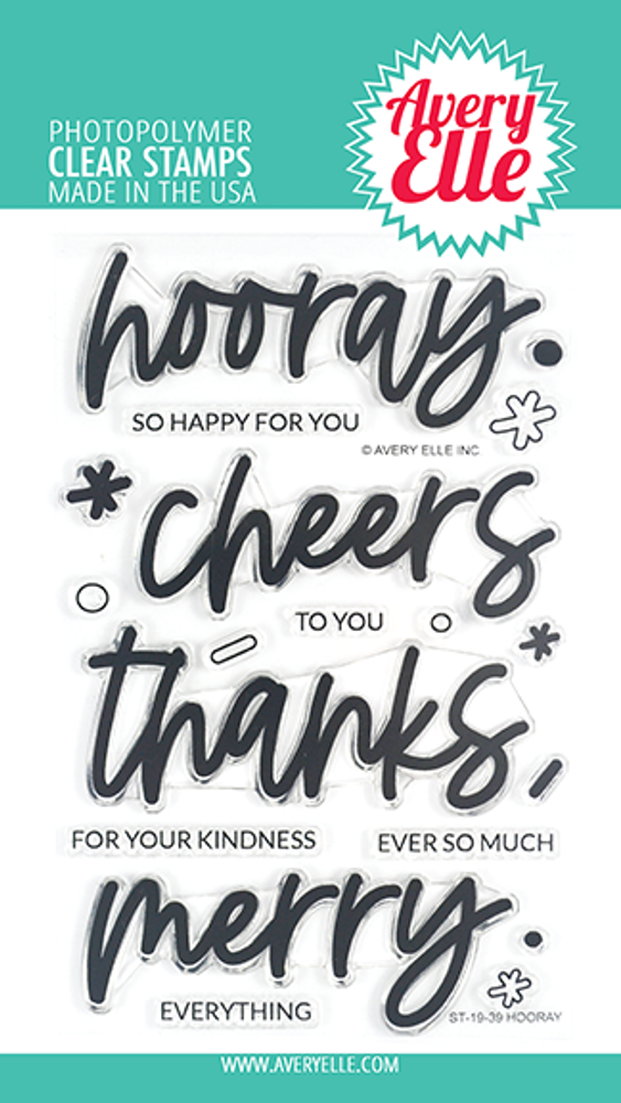 Avery Elle Hooray Clear Stamps