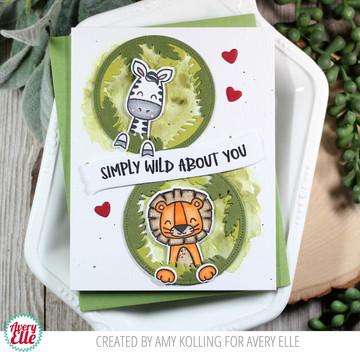 Peek-A-Boo Jungle Clear Stamps & Dies
