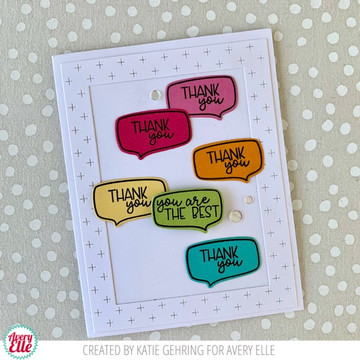 Speech Bubble Clear Stamps & Dies