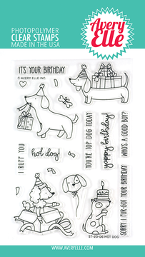 Avery Elle Hot Dog Clear Stamps