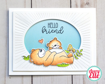 Beary Good Friends Clear Stamps & Dies
