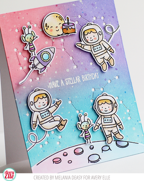 Astronauts Clear Stamps & Dies