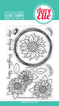 Avery Elle Sunflowers Clear Stamps