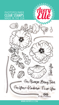 Avery Elle Poppies Clear Stamps