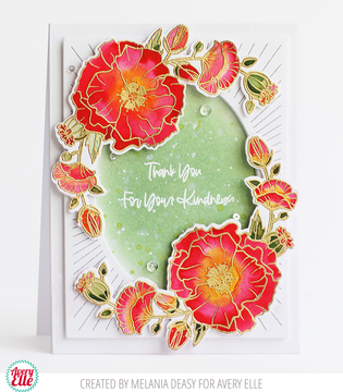 Poppies Clear Stamps & Dies