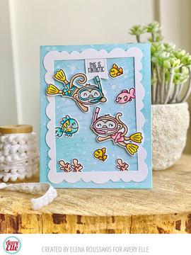 Monkey Sea Monkey Do Clear Stamps & Dies
