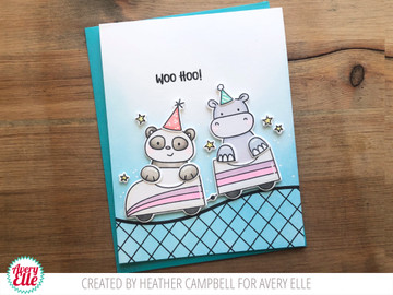 Peek-A-Boo Coaster Clear Stamps & Dies