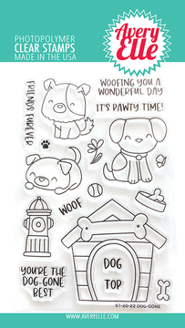 Avery Elle Dog-gone Clear Stamps