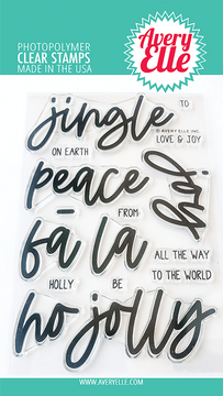 Avery Elle Jingle Clear Stamps