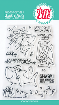 Avery Elle Santa Jaws Clear Stamps
