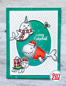 Joyeux Narwhal Clear Stamps & Dies