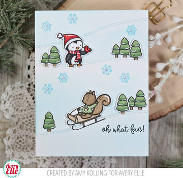 Winter Friends Clear Stamps & Dies